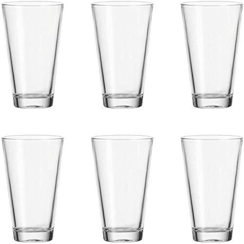 Leonardo Ciao Trink-Gläser, 6er Set, spülmaschinengeeignete Wasser-Gläser, Trink-Becher aus Glas, Saft-Gläser, Getränke-Set, 300 ml, 012674