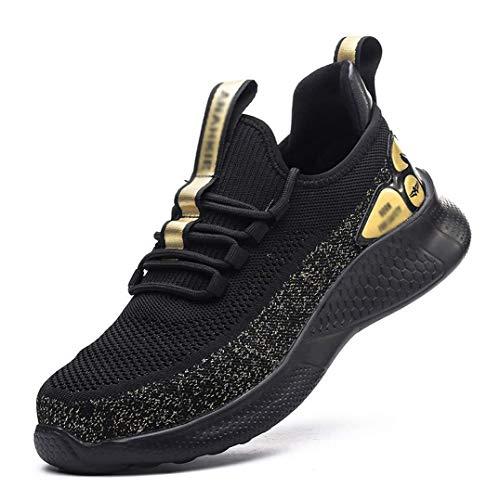 YYQQ Zapatos De Seguridad Hombre,Zapatos De Seguridad Mujer Ligeras Transpirable con Puntera De Acero Zapatos De Trabajo De Industria Unisex,38EU