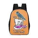 wangjizhouyabo Kinder-Rucksack, 41,9 cm, Design: Kunstdruck, Tagesrucksack für Jungen und Mädchen, Weiß One Size grau