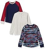 Amazon Essentials Tejido térmico de Manga Larga para niños Camisa, 3-Pack Blue Camo, 3 años