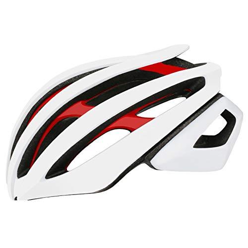 XYW Casco Adulto Casco de Ciclismo: Carreras de Bicicleta de montaña de Carretera cómodo, protección de Seguridad con Doble Capa Liviana Ligero (Color : 02, Size : M)