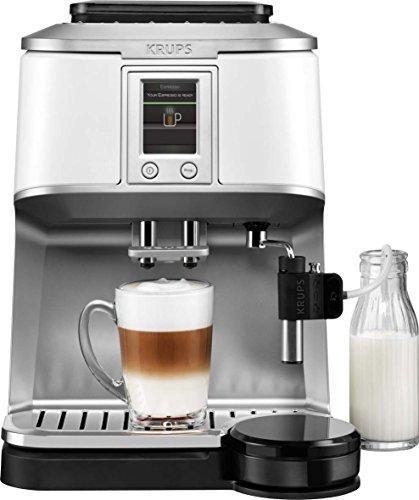 KRUPS EA8441 Kaffeevollautomat (1,7 l, 15 bar, Super-Cappuccino-System) weiß