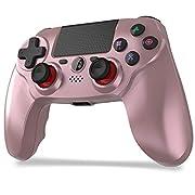 🌟【対応機種】本ワイヤレスコントローラーはPS4/PS4 Pro/PS3/PS3 Pro/Slim PC(Windows7/8/10)に対応できます。USBケーブルでコンピュータに接続すると有線コントローラーとして使用できます。 最新のPS4システムソフトウェアバージョンにも適用です。 🌟【最適化されたボタンと高感度コントローラー】FPS改良、ゲームパッドボタンのレイアウトは、優れたデュアルアナログジョイスティックデザインで最適化されています、ステックの精度を調整でき、FPS/TPSゲームでは敵...