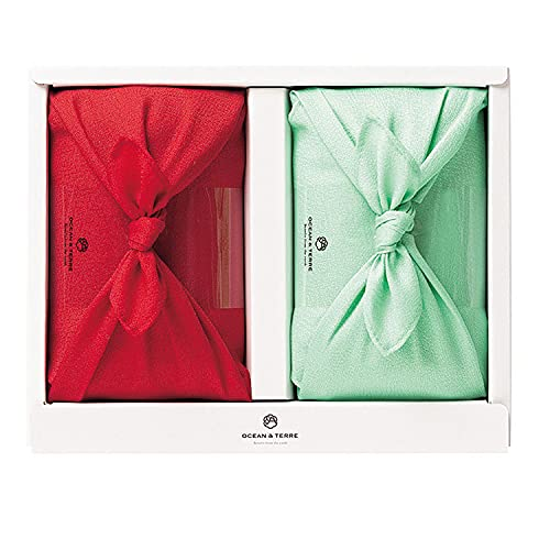 国産米のカラフルな風呂敷包み2個入りBセット×1箱【結婚式 和風のギフト お米のギフト 食べ比べ 引き出物 ご長寿のお祝い 内祝い こしひかり つや姫】