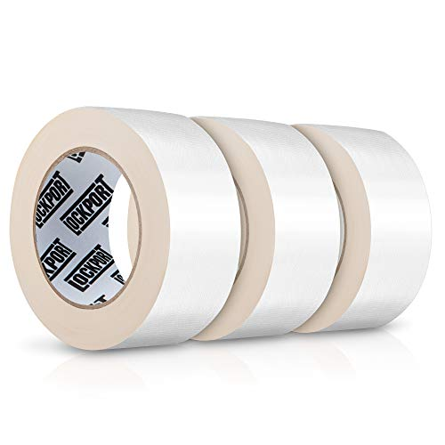 Heavy Duty White Duct Tape - 3 Roll Multi Pack - 30 Yards x 2 Inch - Strong, Flexible, No Residue, All-Weather and Tear by Hand - Bulk Value for Do-It-Yourself Repairs, Industrial, Professional Use