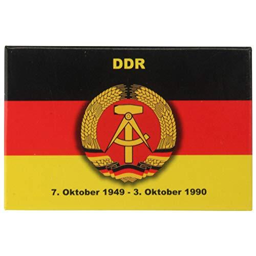Kühlschrank-Magnet DDR-Wappen-Flagge   Starker Halt   Foto-Magnet 8 x 5,5 cm   Nostalgie typisches Souvenir