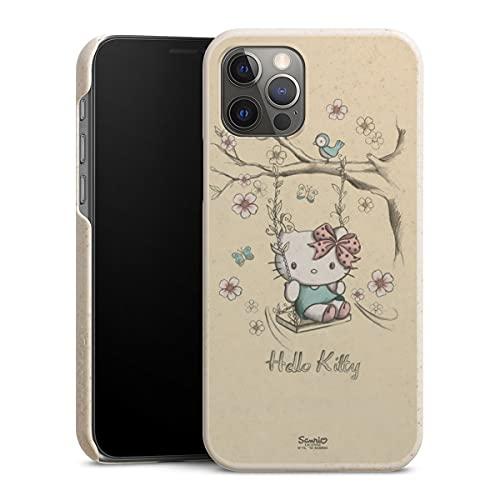 DeinDesign GreenHülle. kompatibel mit Apple iPhone 12 Pro Nachhaltige Handyhülle Umweltfre&liche Hülle Hello Kitty Fanartikel Hanami