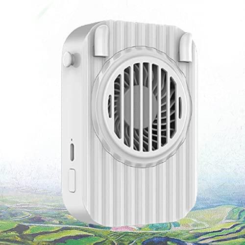 YONGCHY Ventilador de Mano, Ventilador Mini USB portátil, Ventiladores eléctricos de Mano con 3 Modos de Velocidad y batería Recargable de 1200 mAh, Ventiladores de Escritorio silenciosos,Blanco