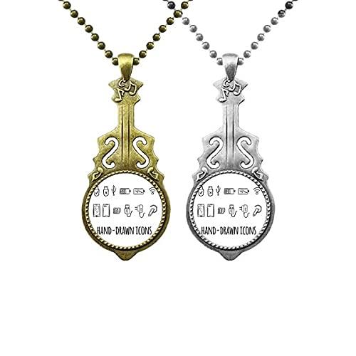 Kabel-Muster für das Laden der Steckdose Liebhaber Musik Gitarre Anhänger Schmuck Halskette Anhänger