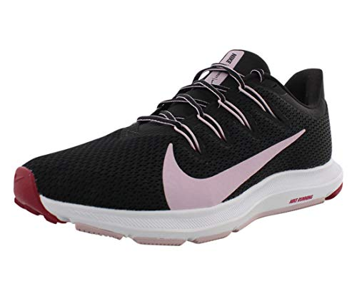 Nike Wmns Quest 2, Zapatilla de Correr Mujer, Negro Lila Helado Rojo Noble, 37.5 EU