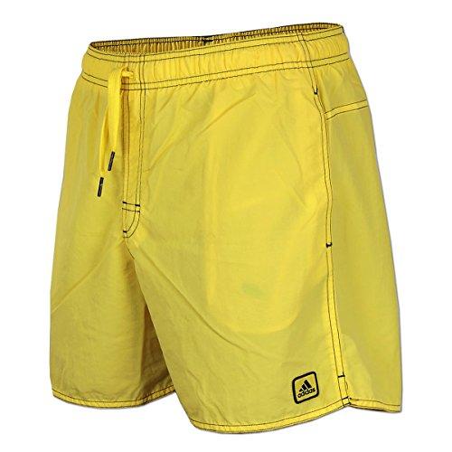 adidas Herren Badeshort Solid Short Badehose (S, gelb)