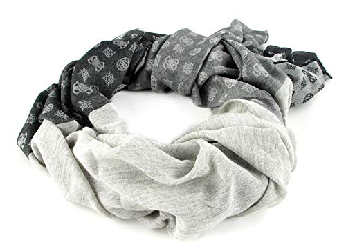 Guess Jacquard Scarf Black Multi