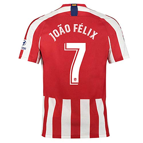 Atletico Madrid Felix Jersey #7 2019-2020 Home Football Soccer T-Shirt Jersey Red (L)