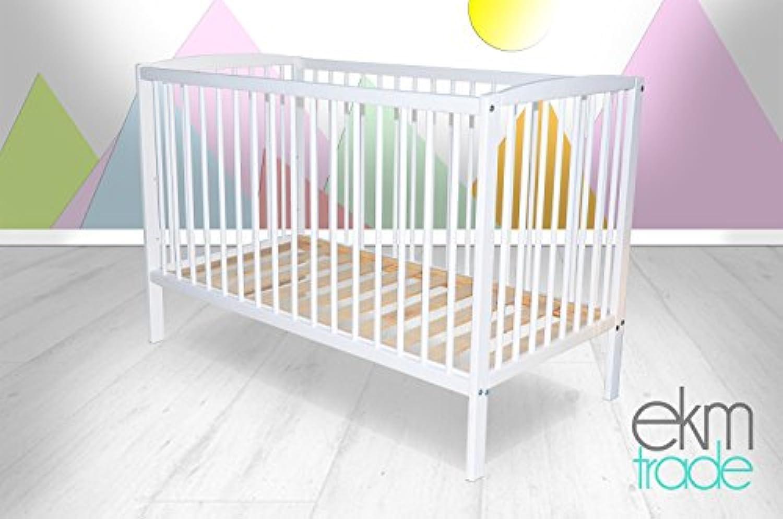 Wei GITTERBETT 120 x 60 cm Babybett Kinderbett ekmTRADE