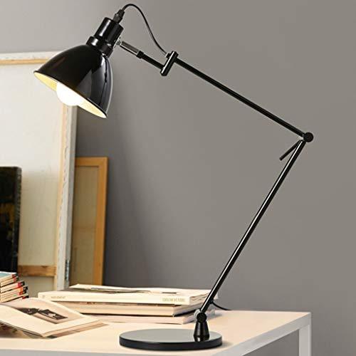 Lfixhssf Nordic verstelbare arm tafellamp zwart moderne lamp ijzeren bed studio kantoor werklamp muziekstandaard licht Lfixhssf