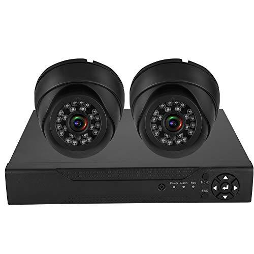 zcyg Cámara Cámara de vigilancia Cámara de Seguridad Cámara De Seguridad, 2CH ADH HD 200W1080P 5-IN-1 Sistema De Cámara De Seguridad ONVIF Kit De DVR (100-240V Enchufe De La UE)