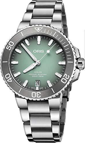 Oris Aquis Date - Reloj de pulsera para hombre (39,5 mm), color verde