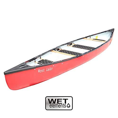 Saarwebstore Wet-Elements Kanu West Lake IV für 4 Personen aus PE Kunststoff Kajak Tourenkanu Freizeitkanu Paddelboot Farbe Grün