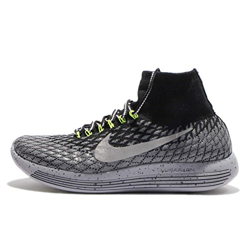 Nike Lunarepic Flyknit Shield Mens Running Trainers 849664 Sneakers Shoes (UK 6.5 US 7.5 EU 40.5, Black Metallic Silver 001)