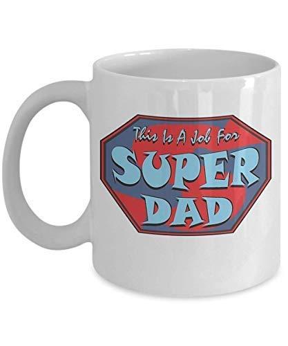 N\A Super PAPÁ Taza Taza de café Taza Divertida Té Regalo para Navidad Día del Padre Navidad Papá Aniversario Día de la Madre Papá Corazón Santa