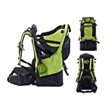 BJYX Babyrúckentragen mit Abnehmbare Schultasche Integrierter Regenhülle und Markise Babytragen Geeignet für Bergsteigen Reisen Wandern Outdoor Maximale Belastung 25 Kg,Grün