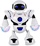 Guilty Gadgets Bambini Robot Giocattolo Luce LED Elettrico Danza Musica Spazio A Passeggiare Per Ragazzi Bambini Natale Regalo Di Compleanno