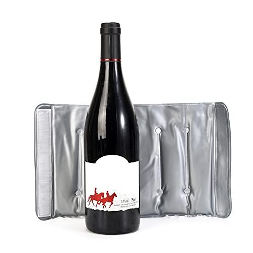 Bolsa de hielo enfriador de vino,manga termostática para vino fría y caliente,bolsa de hielo para botella de champán,enfriador de vino,congelador para barbacoa/vacaciones junto al mar/cena/fiesta/boda