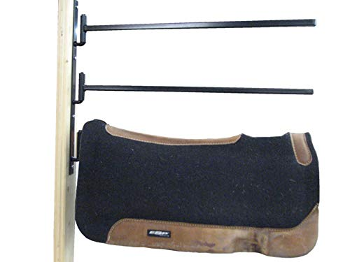 Country Manufacturing Swinging Blanket Bar and Saddle Pad Racks Set of 2 Racks. Swing Out Design.