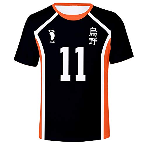 Peoria Haikyu!! Cosplay T-Shirt, 3D Graphic Printed Anime T-Shirts for Men and Women(L Kei Tsukishima)
