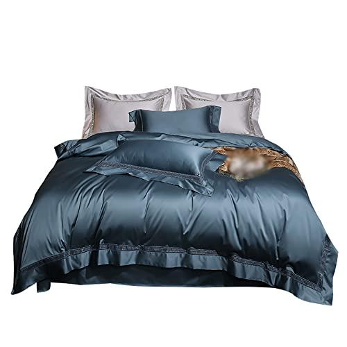 Household items Bettbezug, Doppelbett 100prozent Reine Baumwolle Hotel Hochwertiger Satinband Kissenbezug Langstapelige Baumwolle Super Weiche Haushaltsbettwäsche, Tagesdecke Bettbezug Set