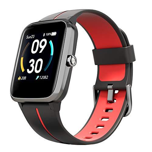 Smartwatch GPS Fitness Armbanduhr 5 ATM Wasserdicht Fitness Tracker mit 14 Sportmodi Sportuhr mit Schrittzähler Schlafmonitor Wettervorhersag Herzfrequenzmesser Smart Watch DIY Hintergrund Stoppuhr