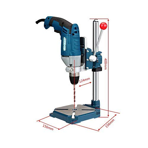 WYZXR Electric Drill Holder 400mm Drilling Cutting Stand Grinder Rack Clamp Bench Press Stand Adjustable Bracket for Holding Aluminium Alloy Electric Drill DIY Woodwork 60mmDrilling Depth