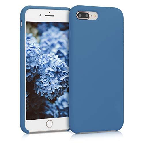 kwmobile Funda Compatible con Apple iPhone 7 Plus / 8 Plus - Carcasa de TPU para móvil - Cover Trasero en Azul índigo