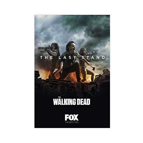 Teleplay Poster The Walking Dead Season 10 33 - Póster de lienzo para pared (30 x 45 cm)