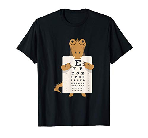 Caimán Cocodrilo Gafas ojos leer epub Dibujos animados Camiseta