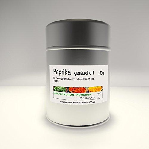 Paprika smoked süß geräuchert Paprikapulver spanisch 50g im Streuer Gewürzkontor München