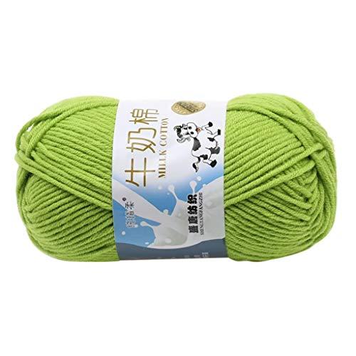 GingTA Knitting Crochet Yarn Chunky Yarn Cotton Thread Yarn,The Original Solid Yarn Perfect for Mini Knitting and Crochet Project (D4)
