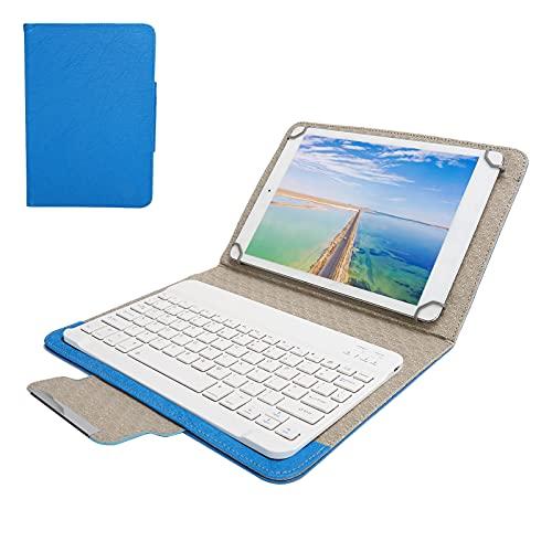 Vbestlife Teclado Bluetooth para Tableta con Funda Protectora de Cuero PU Universal para Todas Las tabletas de 9.7 a 10.1 Pulgadas, para Mini 2/3/4/5, para iOS 2017/2018 / Air / air2 / Pro(Azul)