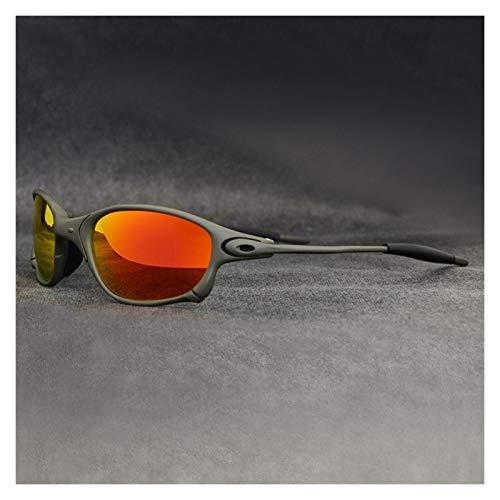 Gafas de ciclismo Deportes Polarizado Ciclismo Gafas Bicicleta de Montaña Ciclismo Gafas Hombres Ciclismo Gafas de sol UV400 Ciclismo Eyewear Metal Marco gafas de sol ciclismo hombre ( Color : 02 )