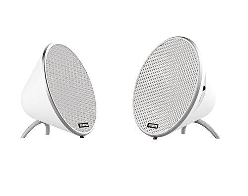 Altec Lansing geemel Doppel Bluetooth tragbarer Lautsprecher weiß