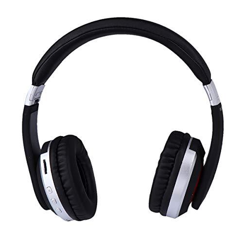 ABOOFAN 5. 0 inalámbrico plegable auriculares auriculares soporte MP3 modo y radio para teléfonos móviles TV portátil (plata) accesorios del teléfono