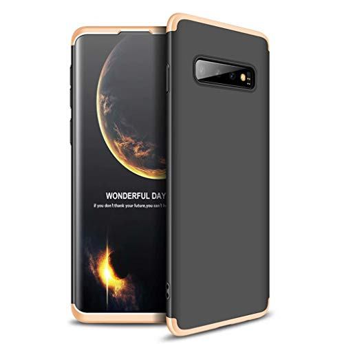 Lanpangzi Compatible con Funda Xiaomi Redmi Go Case Caso 3 in 1 Carcasa Todo Incluido Anti-Scratch Case Cover Protectora de teléfono para Xiaomi Redmi Go - Oro Negro