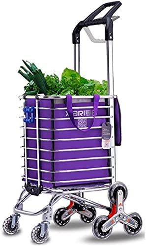 HEZHANG Carro de la Compra Carrito de Compras Plegable Escalera de Escalera Carrito de Escalada con Ruedas Giratorias Rolling Portátiles de la Utilidad de la Tienda de Comestibles para la Colcha Libr