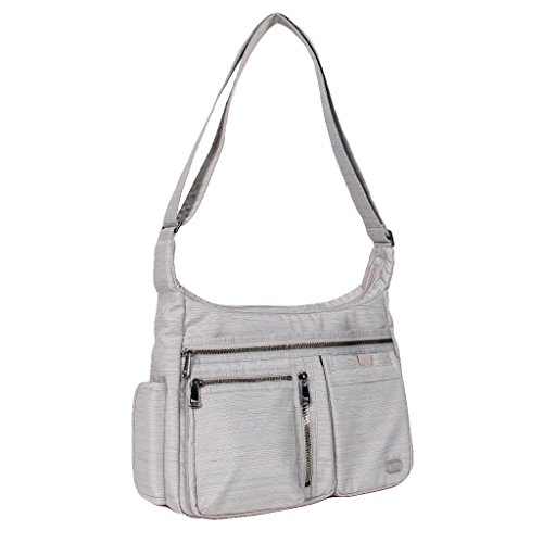 Lug Double Dutch Cross Body Bag, Brushed Silver