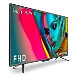 Téléviseur Kiano Slim TV 40 Pouces [100 cm Full HD] (Triple Tuner, DVB-T2, CI+) Lecteur Multimédia Via Port USB, Téléviseur 40 Pouces TV 40 (PVR, Dolby Audio, HDMI, LED, Direct LED, FHD) Énergétique A
