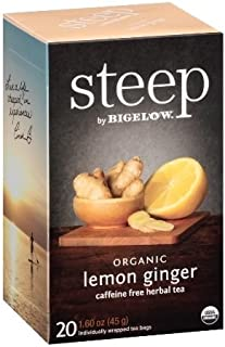 Bigelow Steep Organic Lemon Ginger Tea (6x20 BAG )