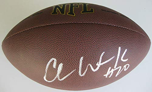 Chance Warmack Seattle Seahawks Alabama Titans signed autographed football proof  Autographed College Footballs