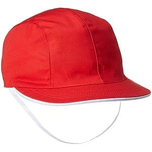 (キャッチ)Catch UVカット 女児用 赤白帽子 903042 レッド S