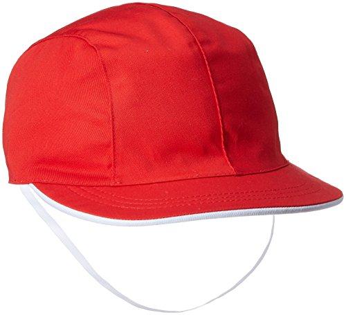 (キャッチ)Catch UVカット 女児用 赤白帽子 903042 レッド L