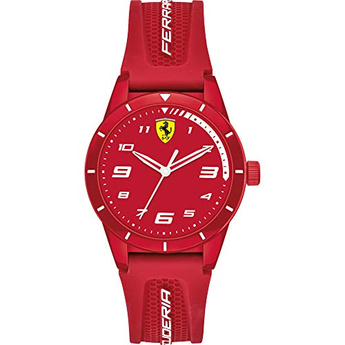 Scuderia Ferrari Orologio Analogico Quarzo Unisex-Bambini con Cinturino in Silicone 0860010